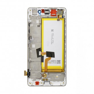 Huawei  P8 Lite LCD Display + Dotyková Deska + Přední Kryt White (Service Pack)