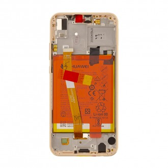 Huawei P20 Lite LCD Display + Dotyková Deska Pink Originál