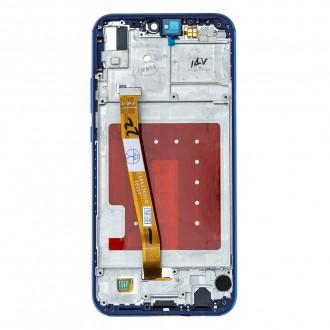 Huawei  P20 Lite LCD Display + Dotyková Deska + Přední Kryt Blue