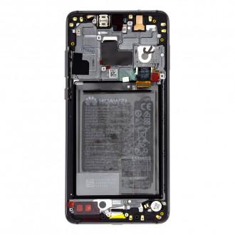 Huawei Mate 20 LCD Display + Dotyková Deska + Přední Kryt Black (Service Pack)