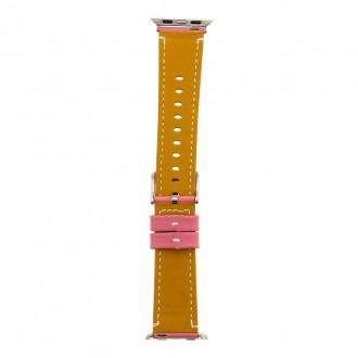 Tactical 033 Color Kožený Řemínek pro iWatch 4 40mm Pink