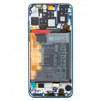 Huawei P30 Lite LCD Display + Dotyková Deska + Přední Kryt Blue (Service Pack)