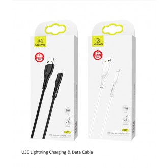 USAMS SJ364 U35 Datový Kabel Lightning Black