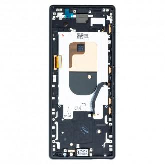 LCD Display + Dotyková Deska + Přední Kryt Black Sony J9110 Xperia 1 (Service Pack)