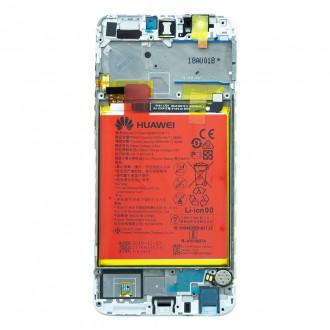 Huawei P Smart LCD Display + Dotyková Deska + Přední Kryt White (Service Pack)