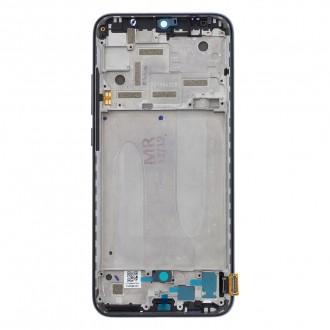 LCD Display + Dotyková Deska + Přední Kryt pro Xiaomi Mi A3 Black (Service Pack)