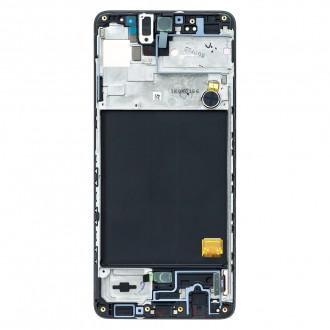 Originální LCD display + Dotyk pro Samsung A515 Galaxy A51 Black (Service Pack)