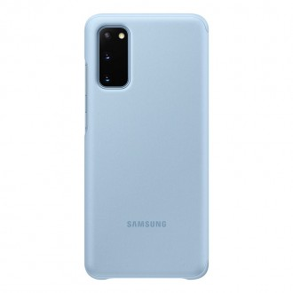 Samsung Clear S-View Pouzdro pro Galaxy S20 Blue (EF-ZG980CLE)