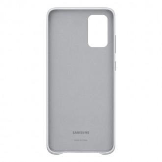 EF-VG985LSE Samsung Kožený Kryt pro Galaxy S20+ Silver