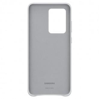 EF-VG988LSE Samsung Kožený Kryt pro Galaxy S20 Ultra Silver