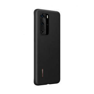 Huawei Original Silikonový Kryt pro Huawei P40 Black