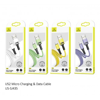 USAMS SJ435 U52 Datový a Nabíjecí Kabel Micro USB 1m Green