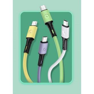 USAMS SJ435 U52 Datový a Nabíjecí Kabel Micro USB 1m Purple