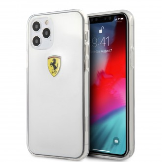 Ferrari On Track Logo Print Kryt pro iPhone 12/12 Pro Transparent (FESTRHCP12MTR)