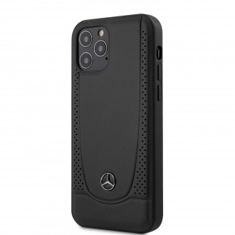 Mercedes Leather Urban Kryt pro iPhone 12/12 Pro Black (MEHCP12MARMBK)