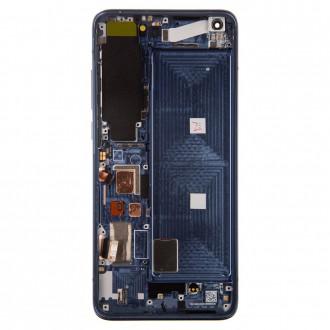 LCD Display + Dotyková Deska + Přední Kryt pro Xiaomi Mi 10 Gray (Service Pack)