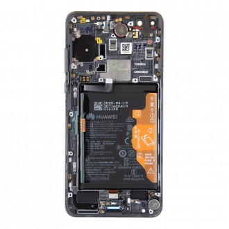 Huawei P40 LCD Display + Dotyková Deska + Přední Kryt Black (Service Pack)