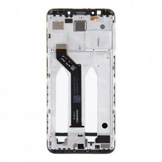 LCD Display + Dotyková Deska + Přední Kryt pro Xiaomi Redmi 5 Plus Black (Service Pack)