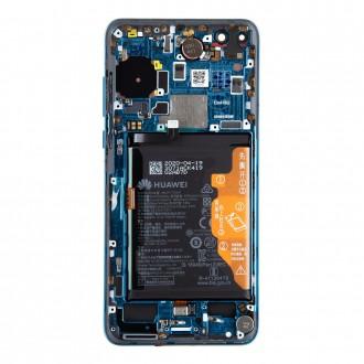 Huawei P40 LCD Display + Dotyková Deska + Přední Kryt Deep Sea Blue (Service Pack)