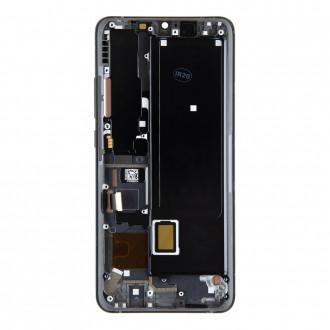 LCD Display + Dotyková Deska + Přední Kryt pro Xiaomi Mi Note 10 Lite Midnight Black