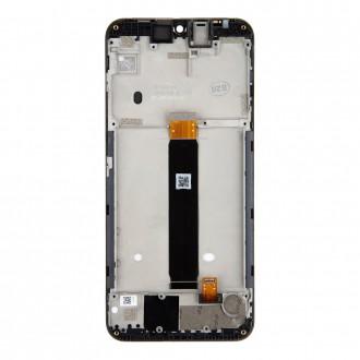 Motorola E6 Plus LCD Display + Dotyková Deska Black (Service Pack)
