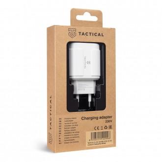 Tactical 13-222 3xUSB-A QC 3.0 3A Cestovní Nabíječka White