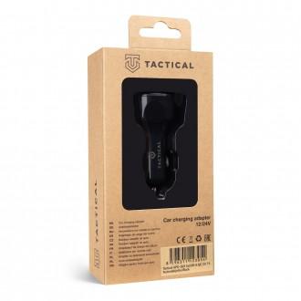 Tactical APD-369 3xUSB-A QC 3.0 7A Autonabíječka Black