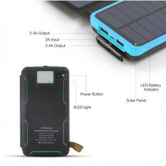 Allpowers XD-SC-010-BBLU Solární nabíječka 7, 5W + 20000mAh PowerBank Black/Blue