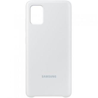 EF-PA715TSE Samsung Silikonový Kryt pro Galaxy A71 Silver