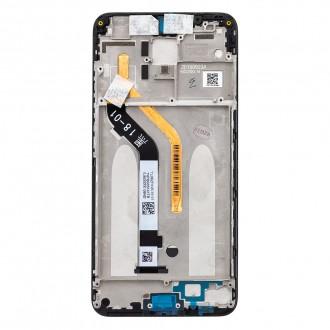 LCD Display + Dotyková Deska + Přední Kryt pro Xiaomi Pocophone F1 Black (Service Pack)