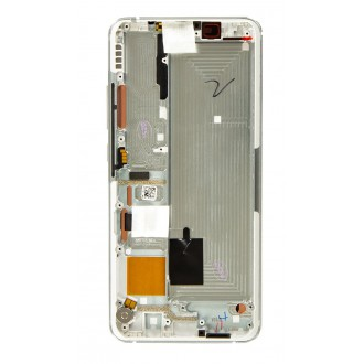 LCD Display + Dotyková Deska + Přední Kryt pro Xiaomi Mi Note 10 Lite Glacier White (Service Pack)
