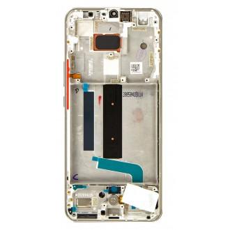 LCD Display + Dotyková Deska + Přední Kryt pro Xiaomi Mi Note 10 Lite 5G White (Service Pack)