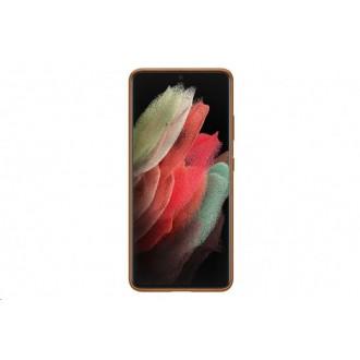 EF-VG998LAE Samsung Kožený Kryt pro Galaxy S21 Ultra Brown