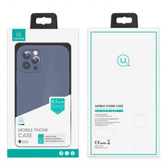 USAMS US-BH731 Magnetic Liquid Silicon Kryt pro iPhone 12 Pro Max Blue