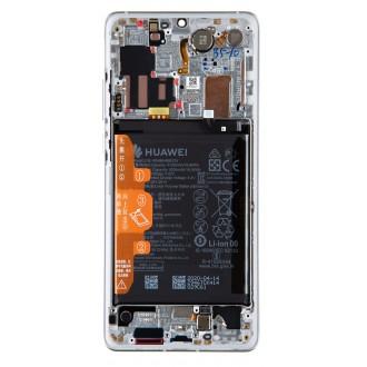 Huawei P30 PRO LCD Display + Dotyková Deska + Přední Kryt Silver (Service Pack)