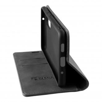 Tactical Xproof PU Kožené Book Pouzdro pro Samsung Galaxy A02s Black Hawk