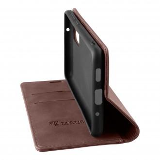 Tactical Xproof PU Kožené Book Pouzdro pro Samsung Galaxy A72 Mud Brown