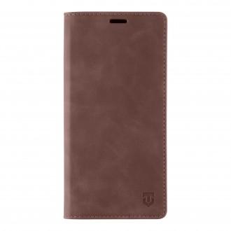 Tactical Xproof PU Kožené Book Pouzdro pro Samsung Galaxy A52 Mud Brown