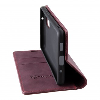 Tactical Xproof PU Kožené Book Pouzdro pro Apple iPhone 12 Mini Red Beret