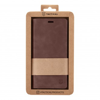 Tactical Xproof PU Kožené Book Pouzdro pro Apple iPhone 12 Mini Mud Brown