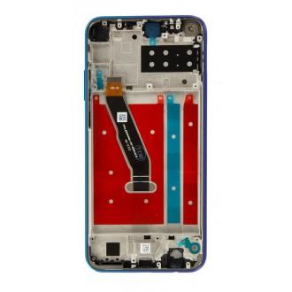 Huawei P40 Lite E LCD Display + Dotyková Deska + Přední Kryt Aurora Blue