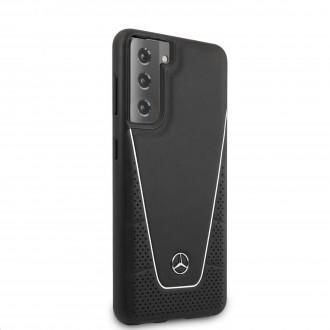 MEHCS21MCLSSI Mercedes Dynamic Leather Kryt pro Samsung Galaxy S21+ Black