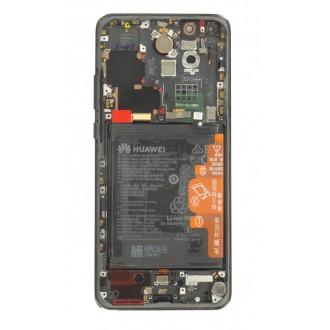 Huawei P40 Pro LCD Display + Dotyková Deska + Přední Kryt Midnight Black (Service Pack)
