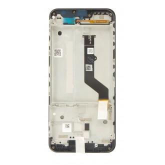 Motorola E7 Plus LCD Display + Dotyková Deska + Přední Kryt  Black (Service Pack)