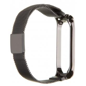 Tactical 379 Loop Magnetický Kovový Řemínek pro Xiaomi Mi Band 3/4 Black