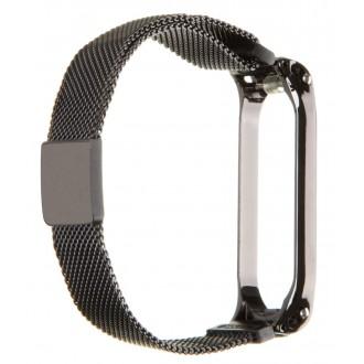 Tactical 660 Loop Magnetický Kovový Řemínek pro Xiaomi Mi Band 5 Black