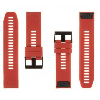 Tactical 669 Silikonový Řemínek pro Garmin Fenix 5X/6X QuickFit 26mm Red