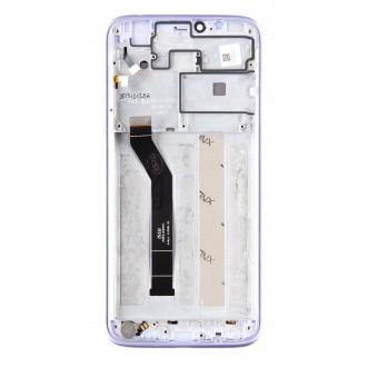 Motorola G7 Power LCD Display + Dotyková Deska + Přední Kryt Violet (Service Pack)