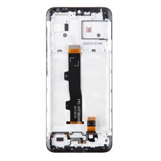 Motorola E7 Power LCD Display + Dotyková Deska + Přední Kryt (Service Pack)