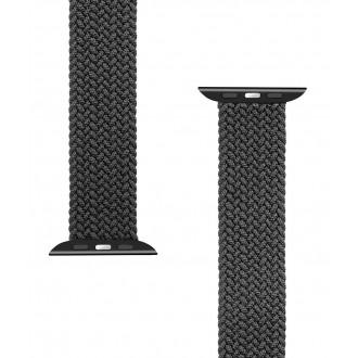 Tactical 779 Pletený Převlékací Řemínek pro iWatch 1/2/3/4/5/6/SE 42/44mm vel. S Black